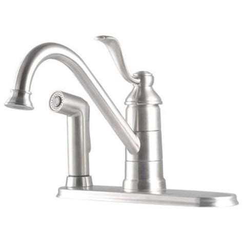 Kitchen Faucet Portland Oregon Pfister Portland Single Handle Standard Kitchen Faucet With Side Sprayer In Stainless Steel
