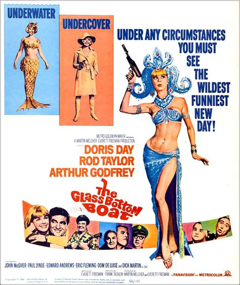 the glass bottom boat movie poster with doris day 1966 - Que Sera Sera Glass Bottom Boat