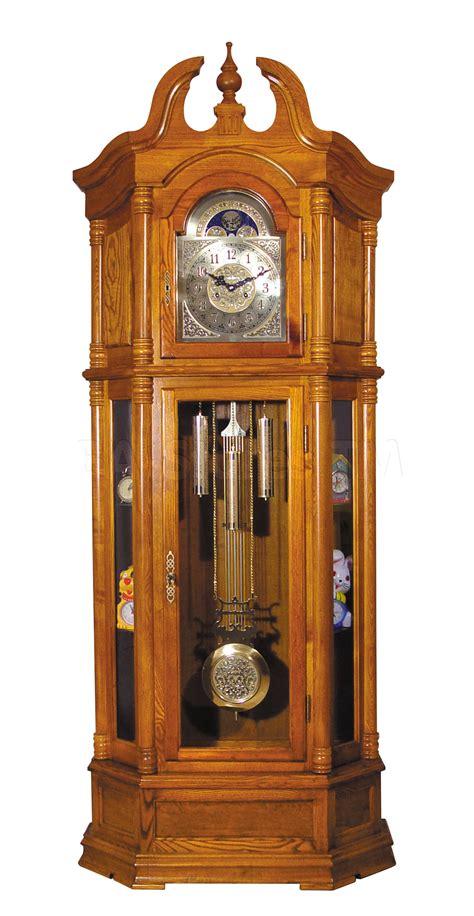 Clocks: Rissa Traditional Pendulum Grandfather Clock Oak AF 01410/1 BA Stores