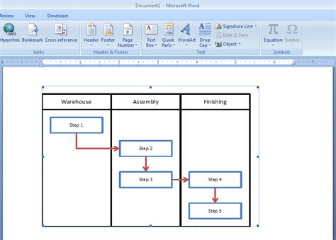 Microsoft Word Flowchart Template by How To Embed An Excel Flowchart In Microsoft Word Breezetree