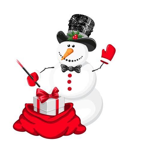 christmas snowman magician png clipart gallery