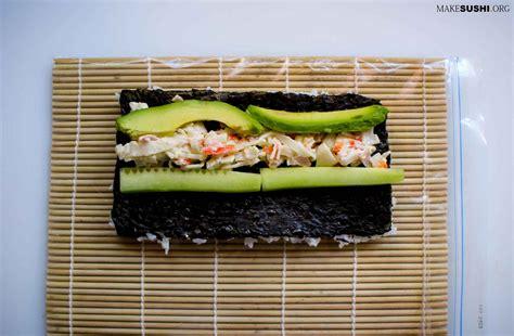 Sushi Roll Mat Penggulung Sushi california roll recipe make sushi