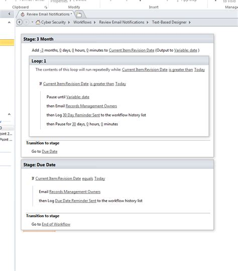sharepoint workflow reminder email sharepoint 2013 workflow email reminder 3 month 1 month