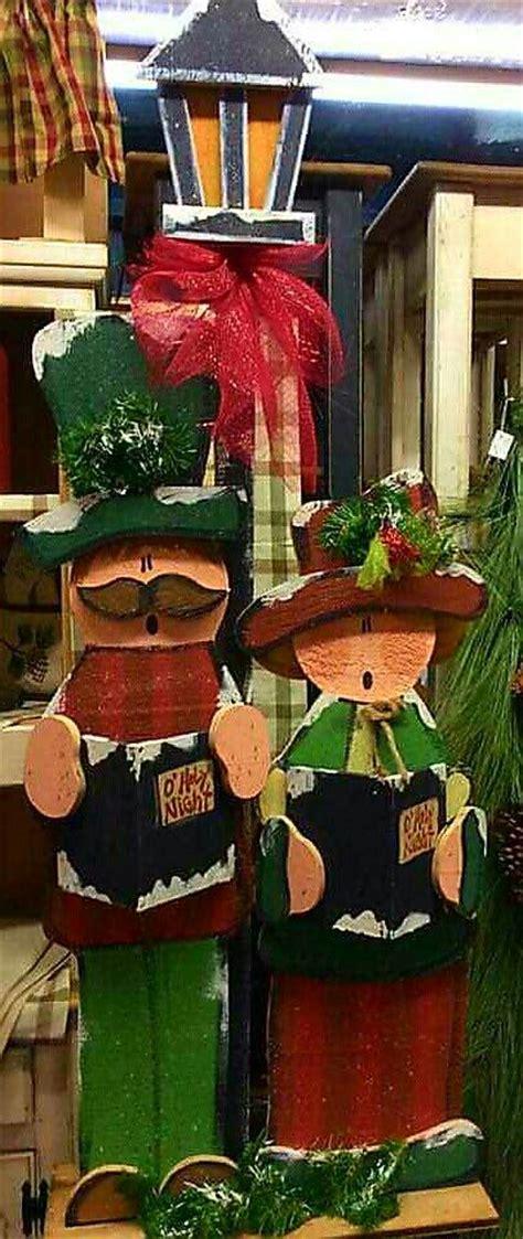 Carolers Yard Decorations - big carolers wood craft