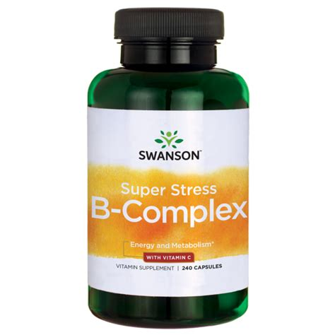 b complex supplement vitamin b complex vitamin c stress formula swanson
