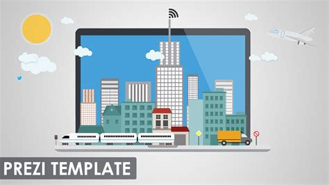 digital city prezi template youtube