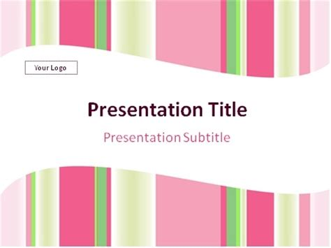 template ppt pink free download pink and green vertical stripes abstract