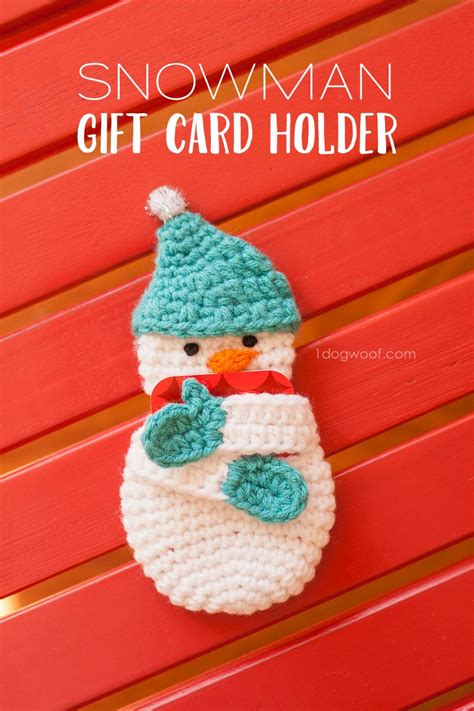 Where Can I Sell Gift Cards In Person - snowman gift card holder crochet pattern one dog woof