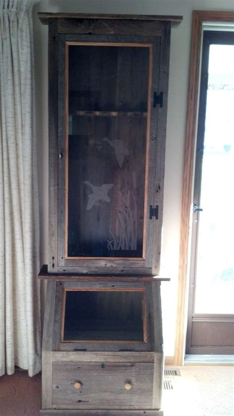 Barnwood Gun Cabinet by Crafted Barn Wood Gun Cabinet By Rats Wood Creations