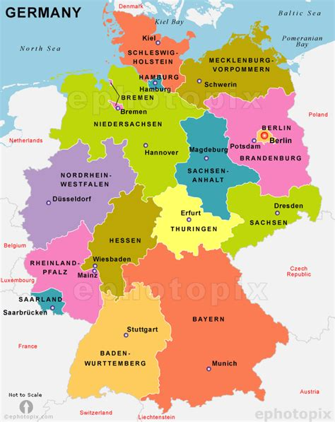 europe germany map deutschland karte provinzen