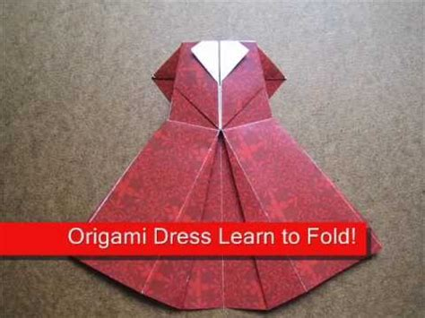how to make an origami dress how to make an origami evening dress