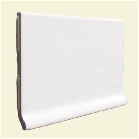 u s ceramic tile color collection bright white ice 3 3 4 in x 6 in ceramic stackable cove