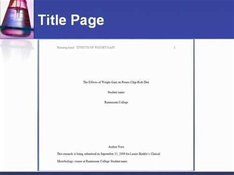 Apa Management Report Template Apa Style Lab Report Wolf