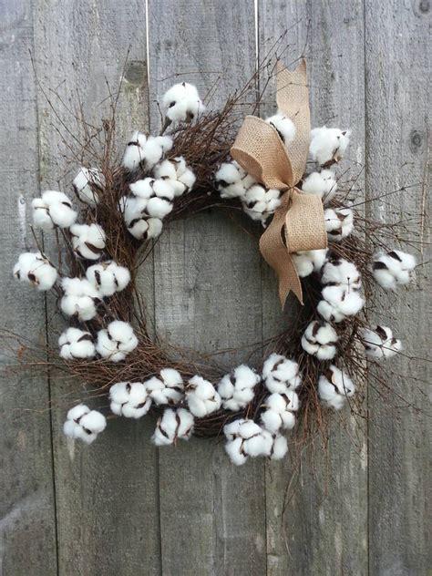 Cotton Wreath, Cotton blossom twig wreath   Fireplace