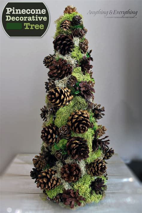 hometalk how to make a pinecone decorative tree