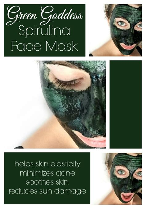 Masker Green Mask Spirulina green goddess spirulina mask the pistachio project