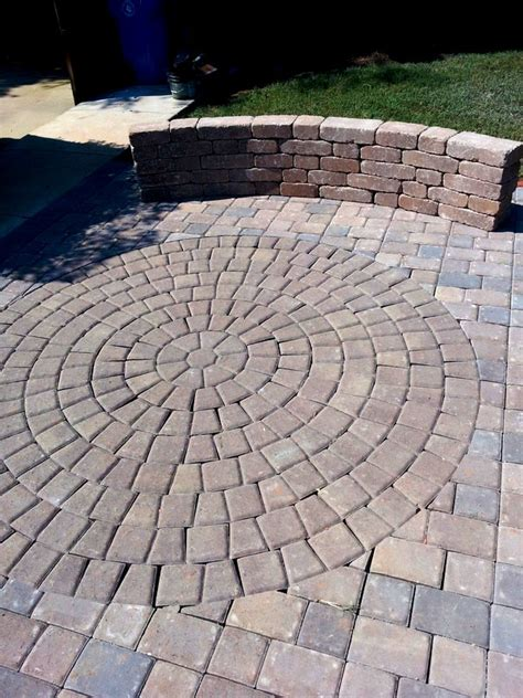 Concrete Or Paver Patio Concrete Paver Design Gallery Pavers Nc