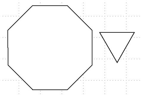 hexahedron template truncated hexahedron