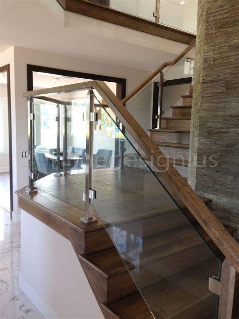Wood And Glass Banister by Ramesh Oh Modern Stainless Steel Cable And Glass