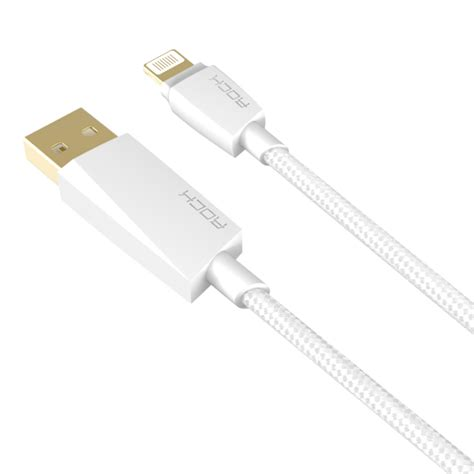 Rock Flat Lightning Data Cable rock 1 2m mfi charge sync lightning to usb data