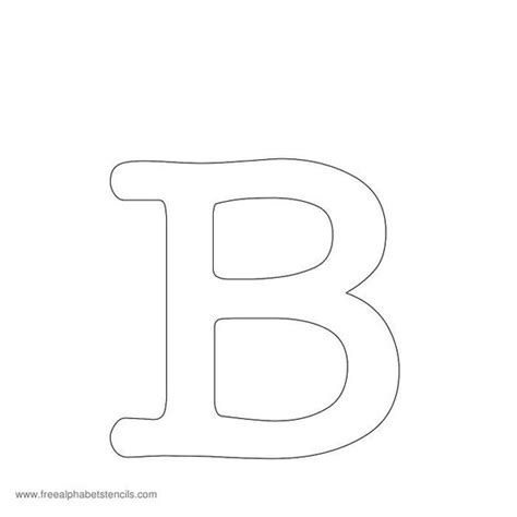 free printable letter stencils for sewing typewriter alphabet stencil b for molly sew pinterest