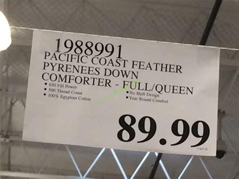 pacific coast pyrenees down comforter costco 1988991 pacific coast feather pyrenees down