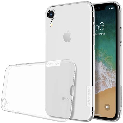 nillkin protective for iphone xr clear transparent anti slip soft tpu back cover alexnld
