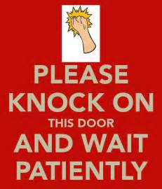 Knock The Door Sign by Knock Before Entering Printable Sign Just B Cause