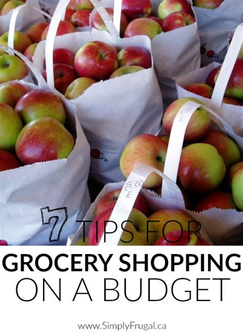 tips  grocery shopping   budget