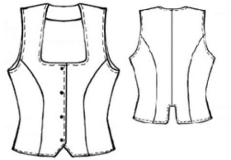 printable vest pattern sewing instructions for women waistcoats tops vests
