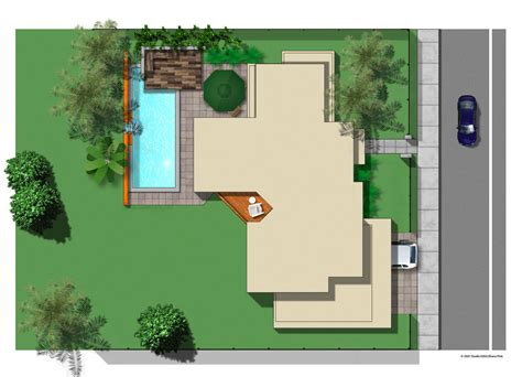 house plans for a view site plan studio 0202