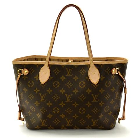 auth louis vuitton monogram neverfull tote bag monogram