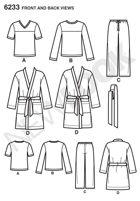 pattern based writing reviews new look 6233 unisex pants robe and knit tops sewing pattern