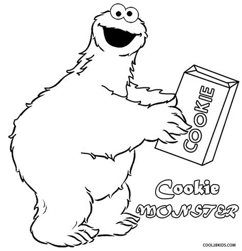coloring book pages cookie monster printable cookie monster coloring pages for kids cool2bkids