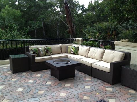 patio furniture set with pit table patio furniture gas pit set