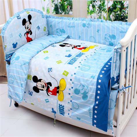 Mickey Mouse Baby Bedding by Shop Popular Mickey Mouse Crib Bedding Sets From China
