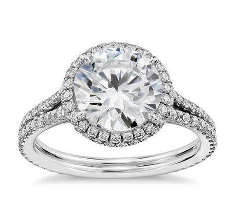 Diamantring Verlobung by Blue Nile Studio Cambridge Halo Engagement Ring In