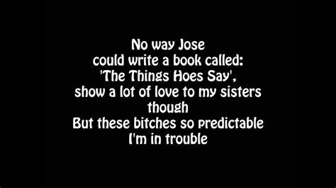 cole trouble lyrics youtube