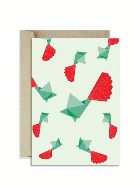 Origami Paper Nz - origami fantails nz card the paperface nz