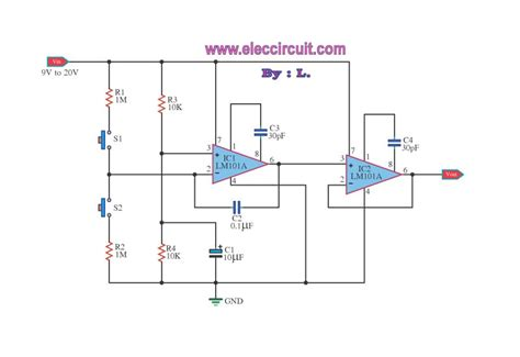 transistor lifier with volume switch volume by op ic electronic projects circuits