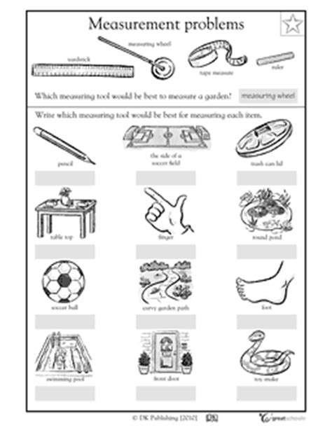 simple combover lengths of measure measurement tools worksheet ccss math content 2 md a 1
