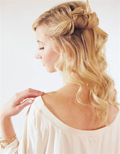 wedding hair up tutorials half up half hairstyles tutorial