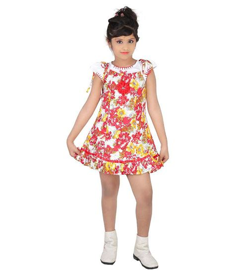 tiny tweens tiny teens red cotton frock for girls buy tiny teens red