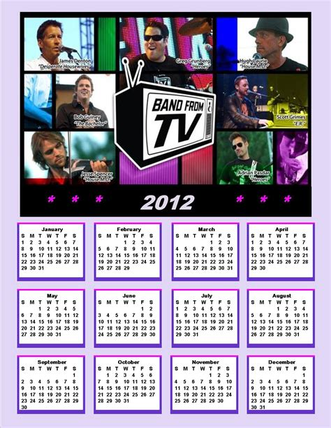 Band Calendar 2012 Band From Tv Calendar Band From Tv Photo 26257445