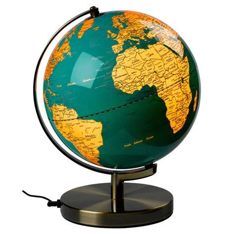 Kaos Globe Original 14 blue and gold illuminated globe by thelittleboysroom