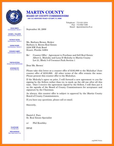 counter offer letter template business