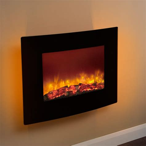 modern wall mounted electric fires compact design be modern quattro wall mounted black