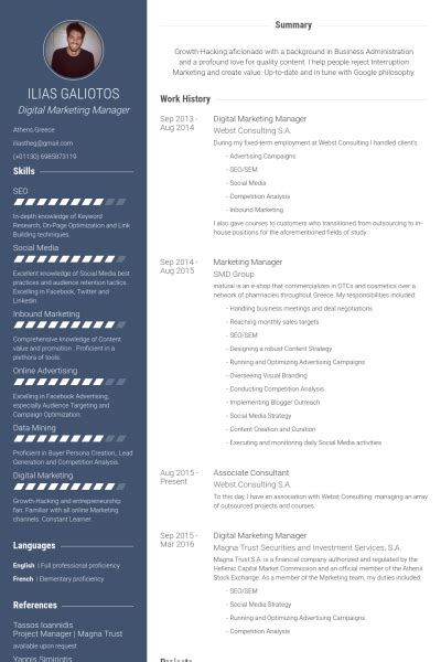 Digital Marketing Manager Resume by Digital Marketing Manager Resume Sles Visualcv Resume
