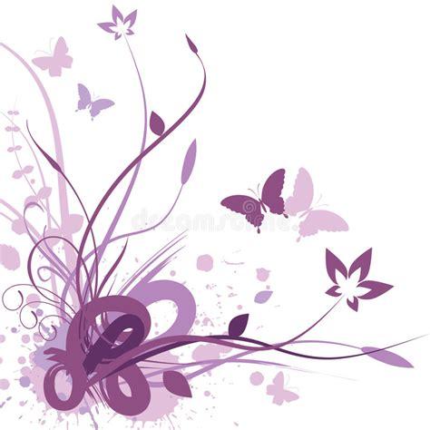 blumen und schmetterlinge 4003 floral background vector illustration stock vector