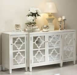 White Buffet Table Mirrored Buffet Console For Black And White